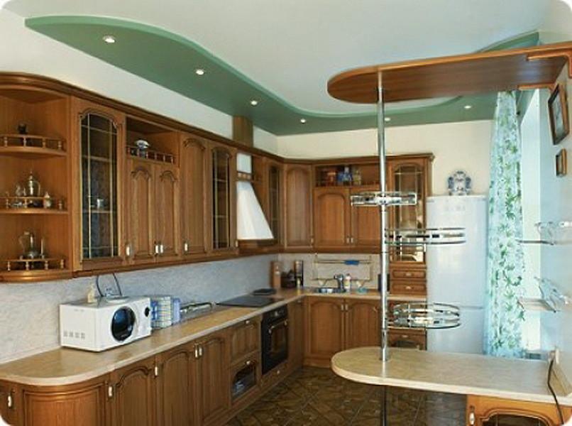 Потолки для кухни из гипсокартона фото своими руками