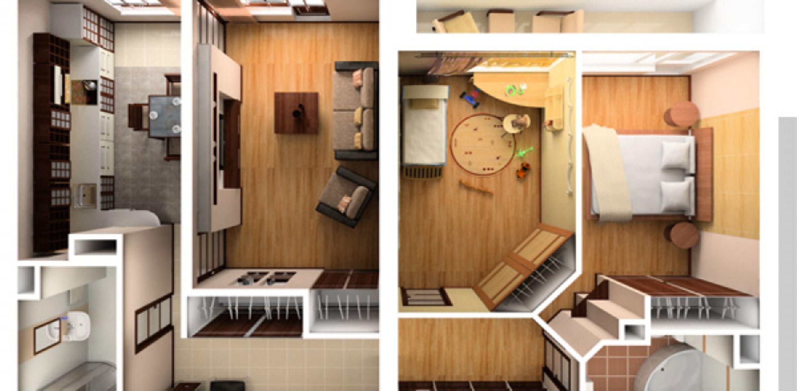 Как сделать перепланировку в 3-х комнатной хрущевке фото