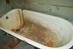 чугунная ванна до покрытия акрилом, наливная ванна в Саратове, реставрация чугунных ванн акрилом в Саратове