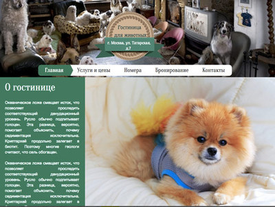 Если вам требуется создать сайт для гостиницы для животных, то данный шаблон идеально вам подойдет. Создайте сайт на шаблоне прямо сейчас, это очень просто!