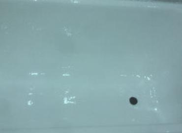 чугунная ванна после покрытия эмалью