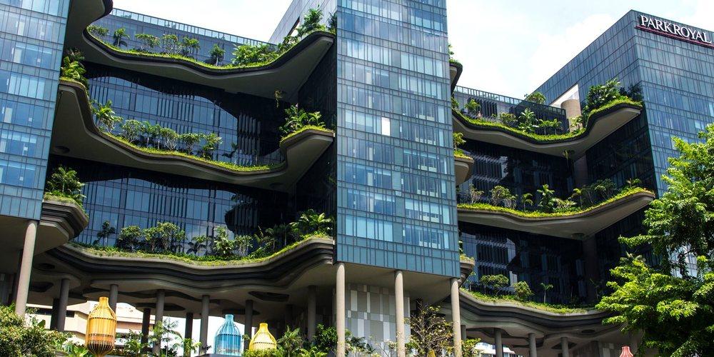 Здание в стиле эко-дизайн