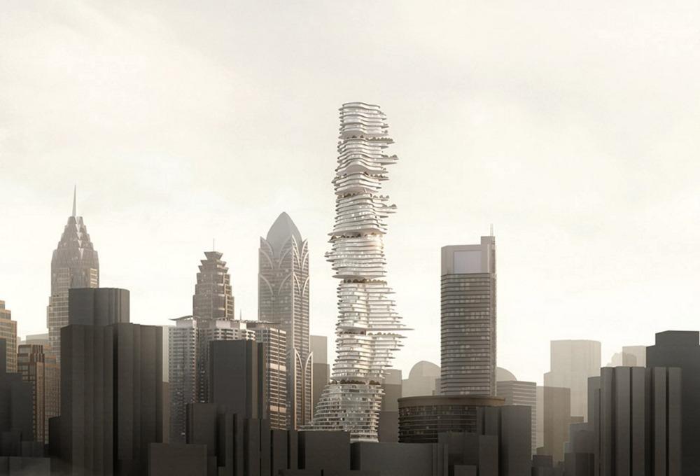 Необычный небоскреб в провинции