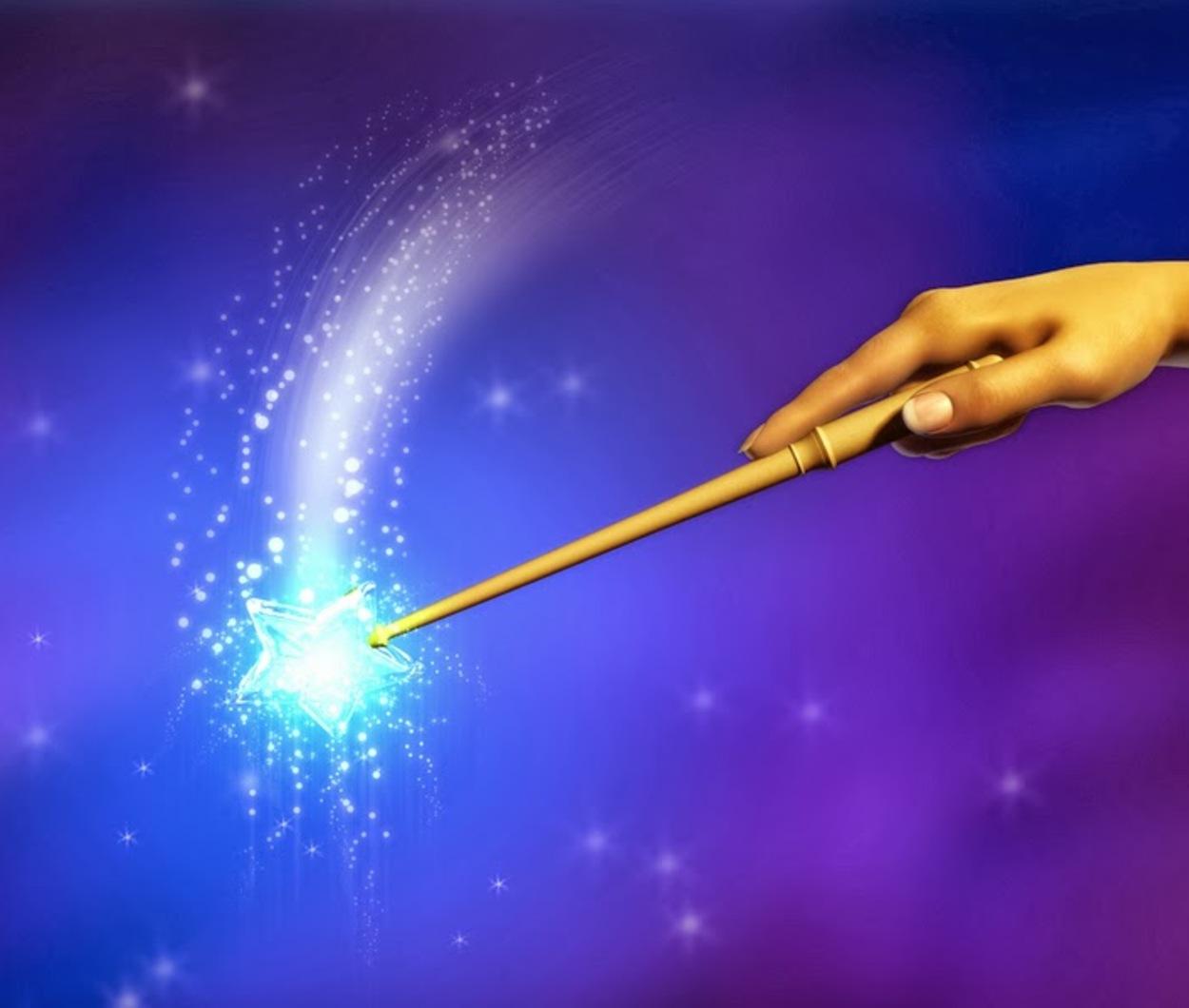 Как сделать волшебную палочку на улице